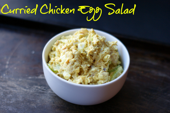 curried chicken egg salad