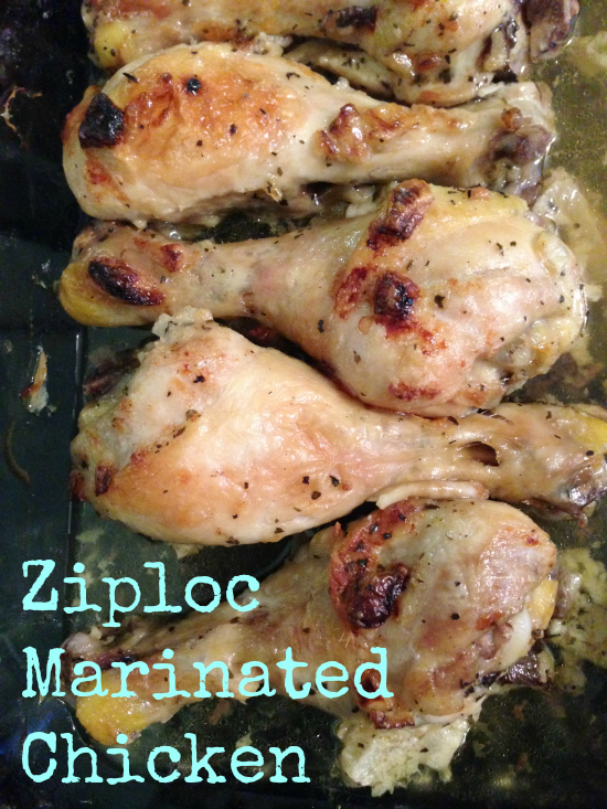 Ziploc Bag Marinated Chicken Legs Recipe