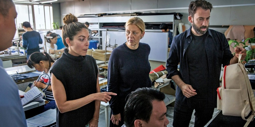 The Everlane design team in China | Photo courtesy: Bloomberg