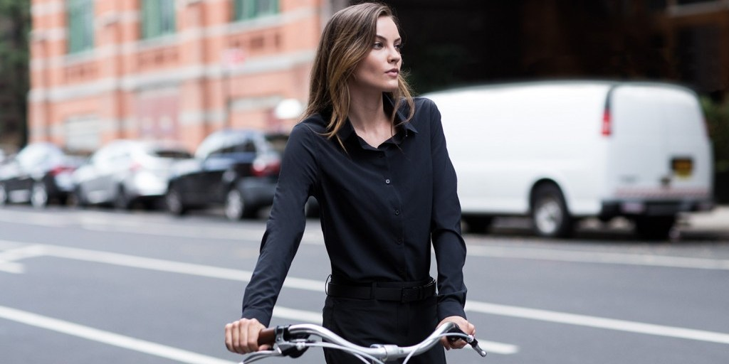 Ministry's new women's line: Perfect for the office (and for the bike). | Photo credit: Ministry