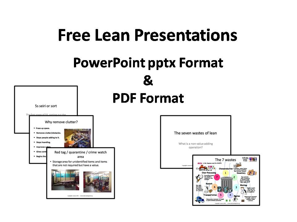 Free Lean Presentations, Training, and Online Coaching