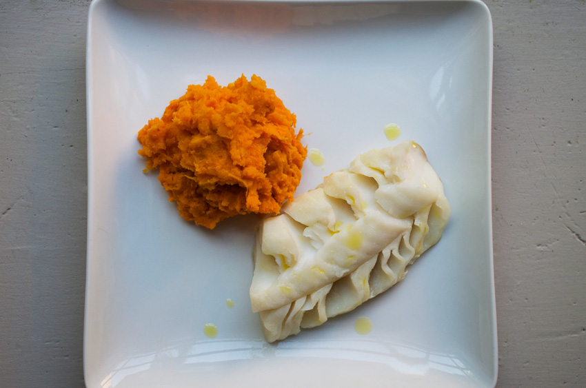 Simple Cod and Sweet Potato Mash