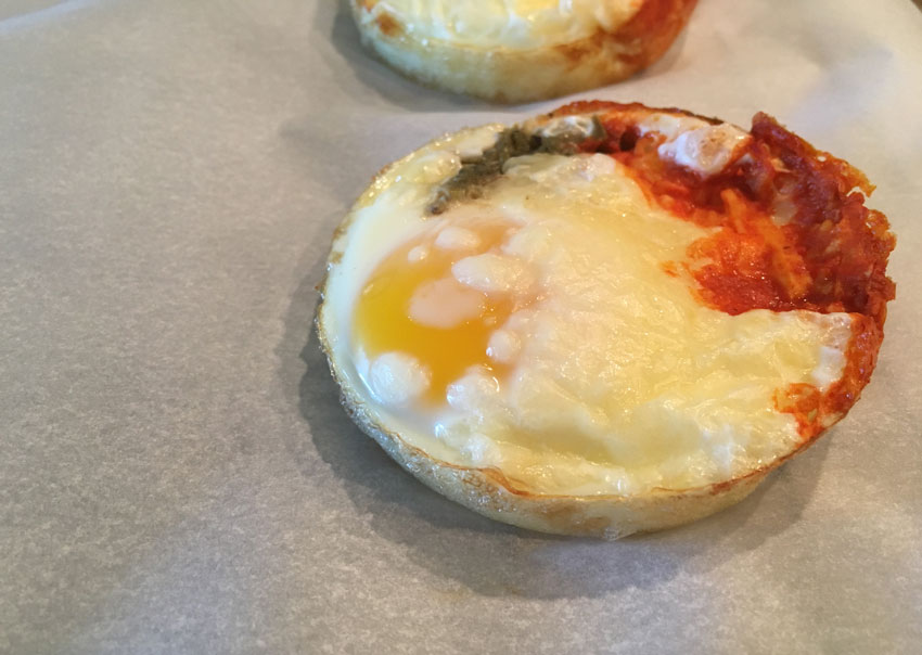 Hot Sauce and Mozzarella Egg Cups