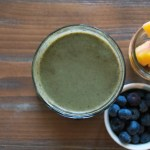 Blueberry Peach Green Smoothie
