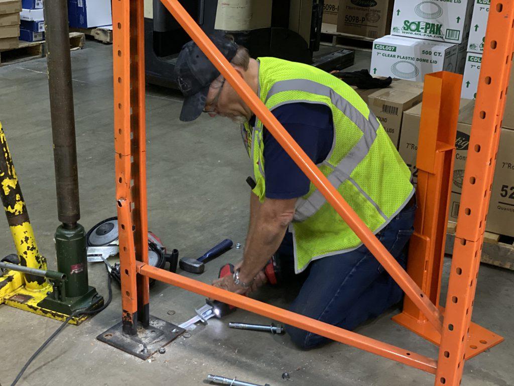 fix damaged warehouse racking repair kits