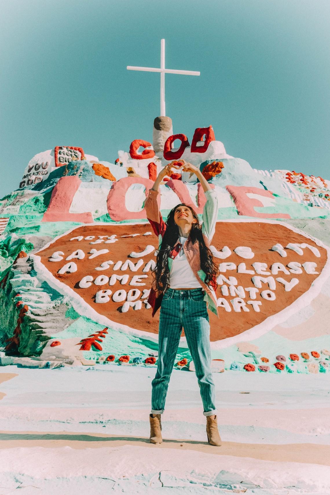 salvation mountain, art, imperial county, salton sea, God, paint, california, imperial valley, leonardo knight, bombay beach, coachella, God is Love, desert, highway 111