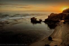 beach-sorrento-water-waves-sunset-2