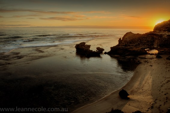 beach-sorrento-water-waves-sunset-2