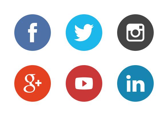 social-media-icons-the-circle-set