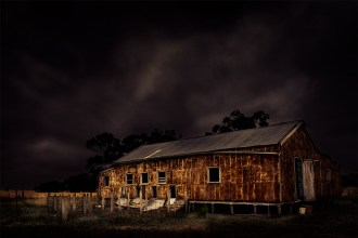 Dark clouds about the shearing shed