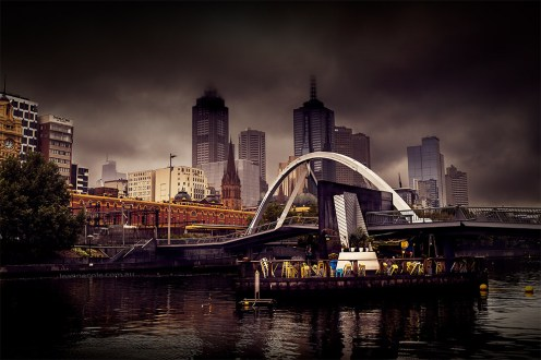 melbourne-raining-evenwalker-bridge-yarrariver