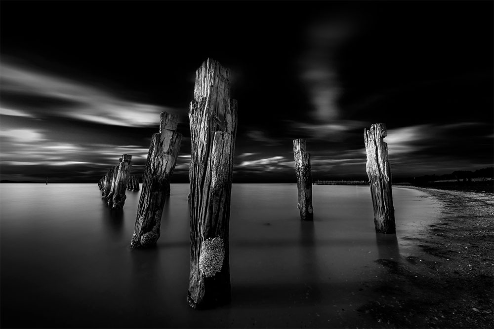 monochrome-clifton-springs-longexposure-pier