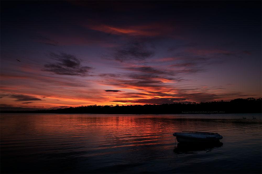 bunga-arm-paynesville-sunset-boat