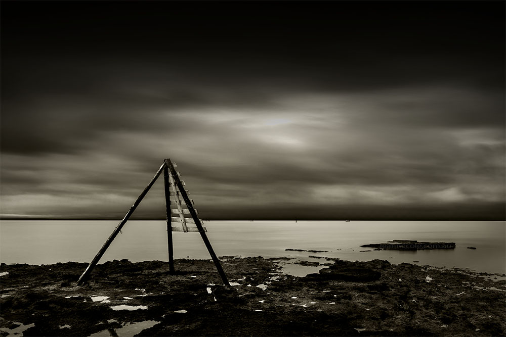 ricketts-point-beaumaris-melbourne-longexposure-monochrome