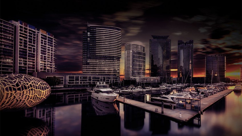docklands-webbbridge-longexposure-sunset-melbourne-2