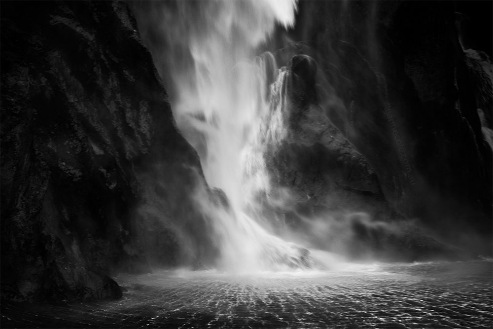 Monochrome Wednesday the waterfall