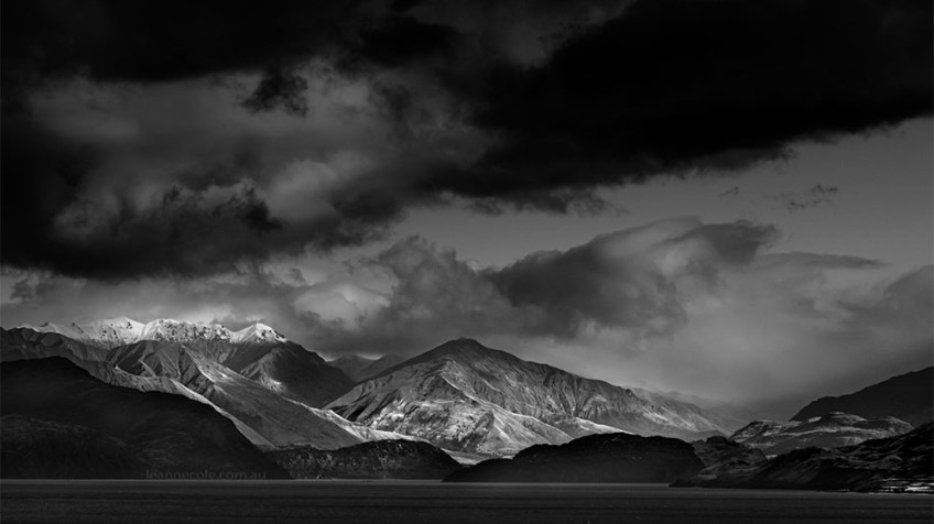 Monochrome Wednesday - New Zealand Mountains
