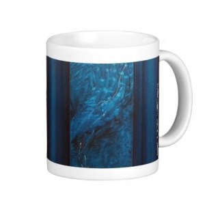 Mug - Teal - Evolution of Consciousness, flowy part