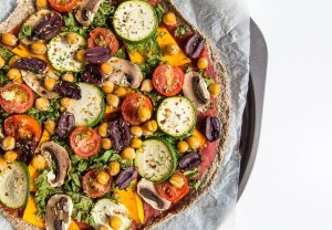 High Fibre Plant based Rainbow Chia Pizza