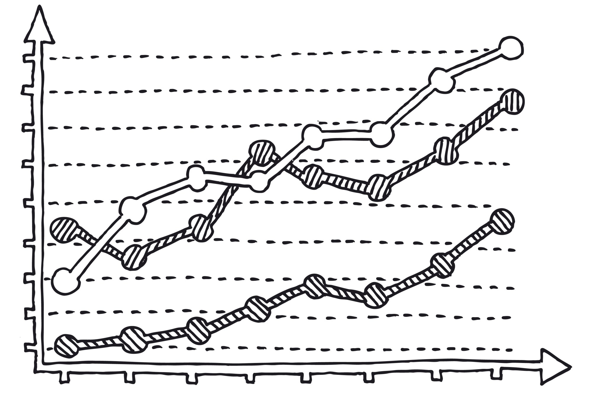 hight resolution of graph chart diagram drawing