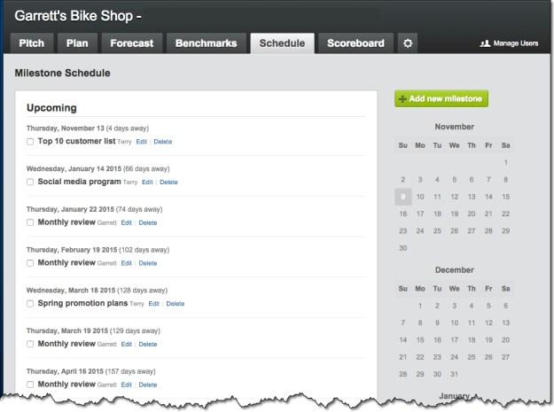 LivePlan Schedule Reviews