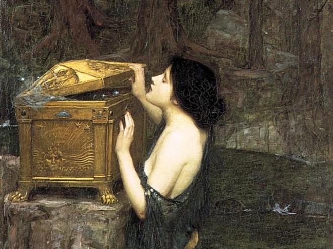 'Pandora' by John William Waterhouse (1896)