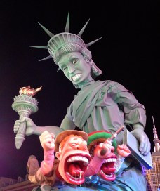 No really, they love Americans. Is that Jane Lynch as the statue of liberty?