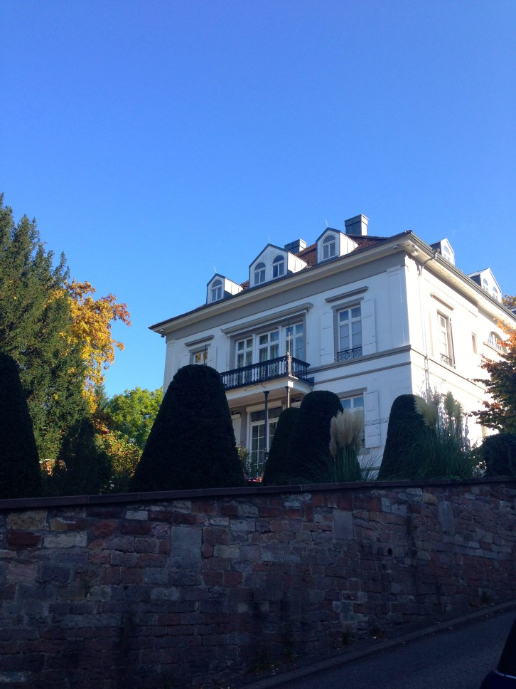 One of the many beautiful homes in Baden-Baden