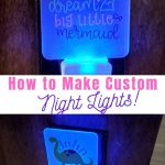 Dollar Tree Night Light Ideas Using A Cricut Leap Of Faith Crafting