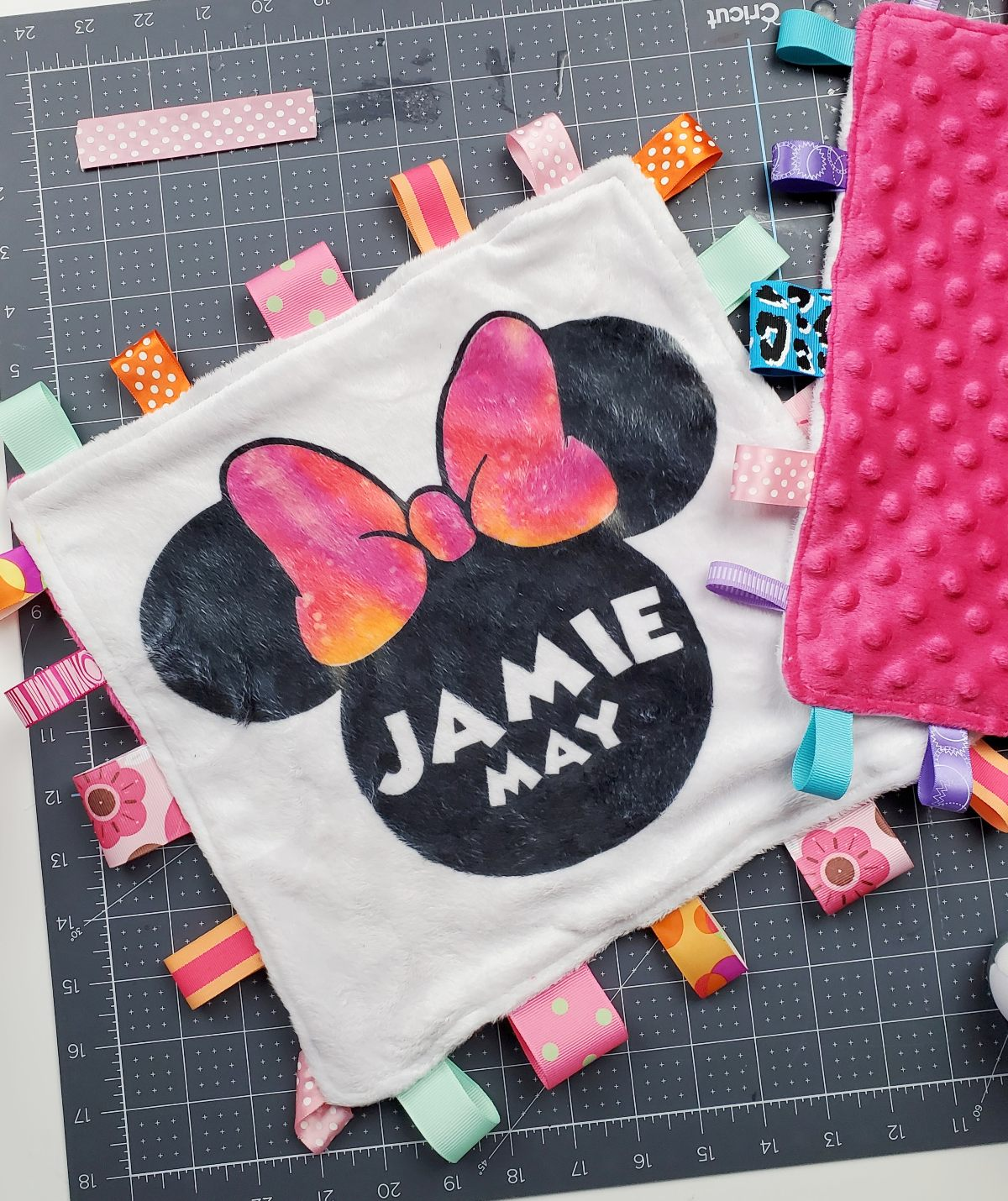 DIY Personalized Baby Tag Blanket
