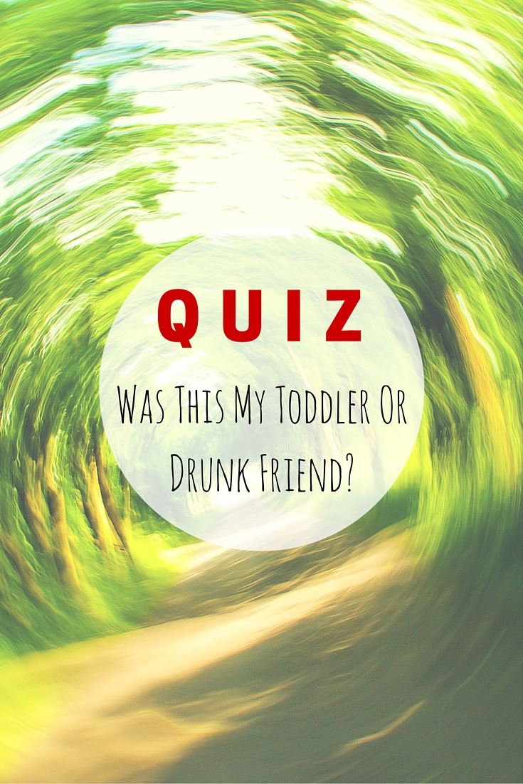 Was This My Toddler Or Drunk Friend QUIZ