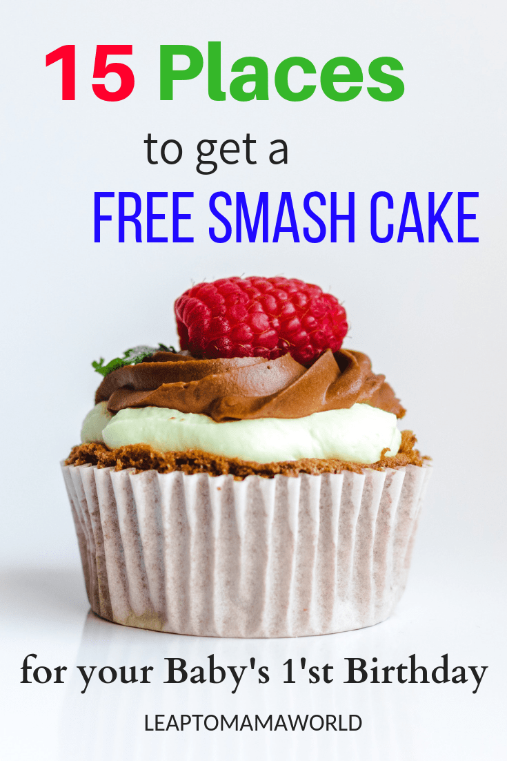 Astonishing 15 Places To Get A Free Smash Cake For Your Babys First Birthday Personalised Birthday Cards Bromeletsinfo