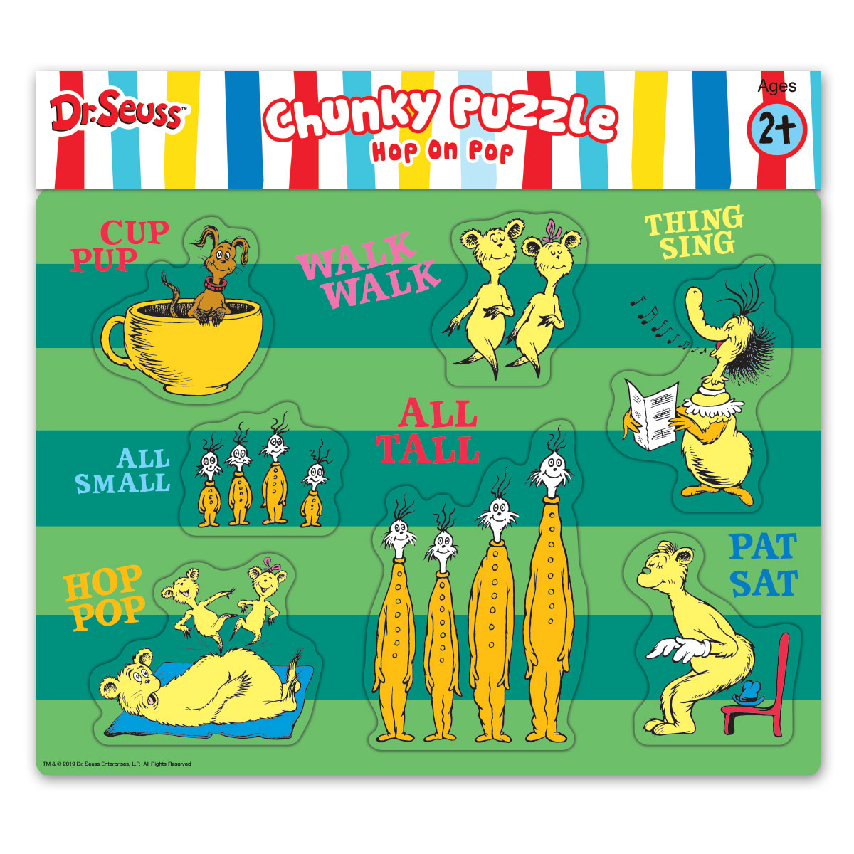Dr Seuss Hop On Pop Chunky Wood Puzzle Leap Year