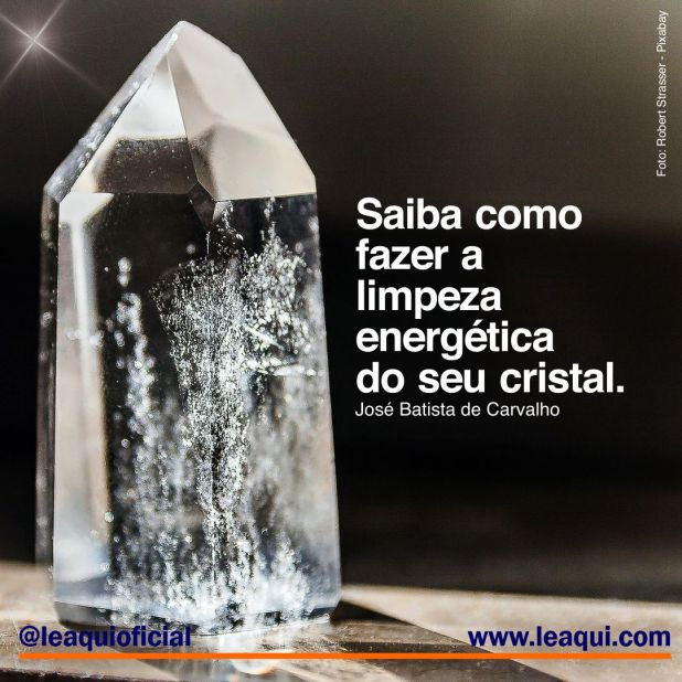 limpeza energética do seu cristal