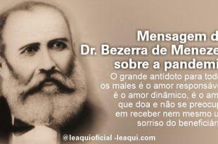 Ilustração do rosto do Dr. Bezerra de Meneses para mensagem Dr. Bezerra de Menezes pandemia