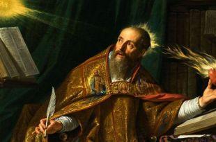 pintura de Santo Agostinho Mensagens fé Santo Agostinho