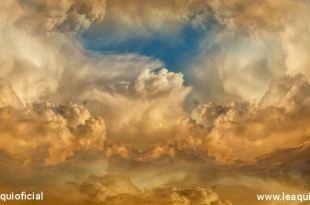 céu com nuvens douradas Os Quinhentos da Galileia