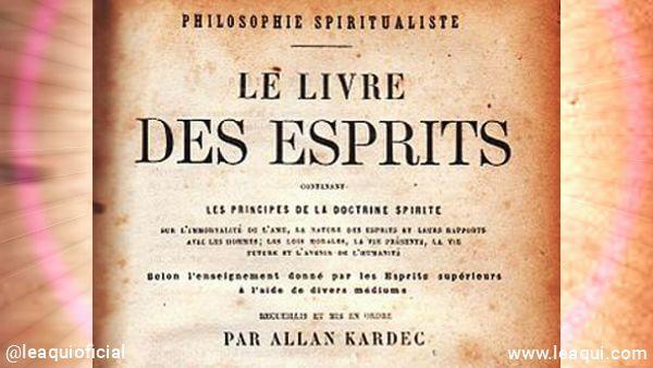 Reprodução da capa do livro da 1ª edição do Livro dos espíritos o início do espiritismo