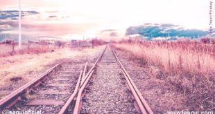 trilhos de trem com desvio mudar o destino