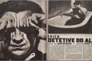 reprodução da reportagem da revista Cruzeiro com reportagem Chico Manzon e Nasser