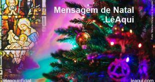 A mensagem de Natal 2020 LêAqui