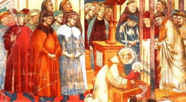 reprodução do afresco de Giotto o natal de são Francisco Natal digital São Francisco