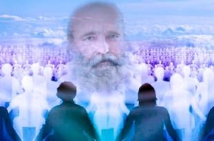 assembleia no plano espiritual com inúmeros espíritos recém chegados ouvindo uma aula do doutor Bezerra de Menezes lição vida e morte