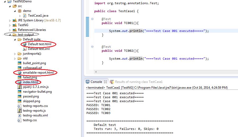 Generate Report in Selenium Webdriver with TestNG Framework
