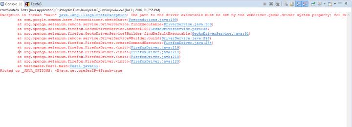 Firefox in Selenium using geckodriver