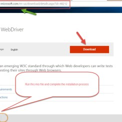 launch Microsoft Edge Browser using Selenium Webdriver