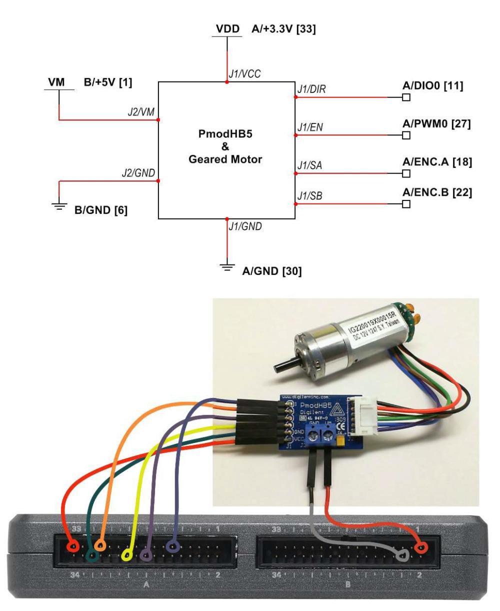medium resolution of h bridge and geared motor