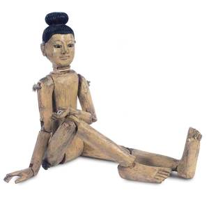 Late 19th-century Asian wooden doll