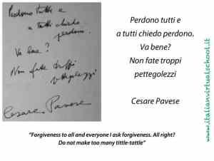 Cesare Pavese, last message