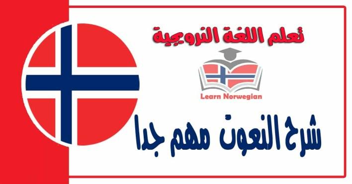 شرح عن النعوت في اللغة النرويجية مهم جدا